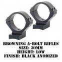 Talley Lightweight Ring/Base Browning A-Bolt 30mm Low Black 730000