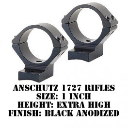 Talley Lightweight Ring/Base Anschutz 1727 1 Inch Extra High Black 960761