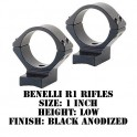 Talley Lightweight Ring/Base Benelli R1 1 Inch Low Black 930711