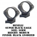 Talley Lightweight Ring/Base Benelli Super Black Eagle 30mm Medium Black 740703