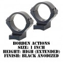 Talley Lightweight Ring/Base Borden Actions 1 Inch High Extended Black B95X719