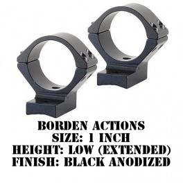 Talley Lightweight Ring/Base Borden Actions 1 Inch Low Extended Black B93X719