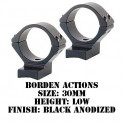 Talley Lightweight Ring/Base Borden Actions 30mm Low Black B730719