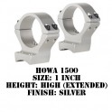 Talley Lightweight Ring/Base Howa 1500 1 Inch Extended High Silver S95X700-H1500
