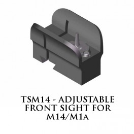 Tech Sights Adjustable Front Sight for M14 and M1A TSM14