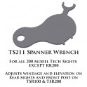 Tech Sights Spanner Wrench for 200 Series Sights TS211