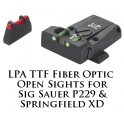 LPA TTF Adjustable Sig Sauer P229 and Springfield XD Fiber Optic Sight TTF28SS