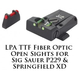 LPA TTF Adjustable Sig Sauer P229 and Springfield XD Fiber Optic Sight TTF28SS