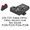 LPA TTF Adjustable Sig Sauer P220, 225, 226, 228 Fiber Optic Sight TTF28SS