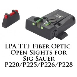LPA TTF Adjustable Sig Sauer P220, 225, 226, 228 Fiber Optic Sight TTF28SS