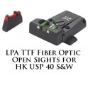 LPA TTF Adjustable H&K USP 40 Fiber Optic Sight TTF49HK