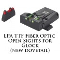 LPA TTF Adjustable Glock Model 17-32 Fiber Optic Sight TTF36GL