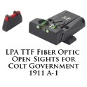 LPA TTF Adjustable Colt 1911 Gvt. Fiber Optic Sight TTF45CT