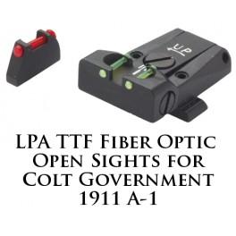 LPA TTF Adjustable Colt 1911 Gvt. Fiber Optic Sight TTF45CT