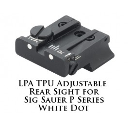 LPA TPU Adjustable Rear Sight for Sig Sauer P Series White Dot TPU25SS-30