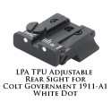 LPA TPU Adjustable Rear Sight for Colt Government 1911-A1 White Dot TPU45CT-30
