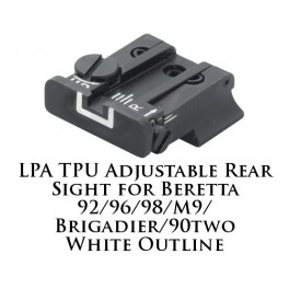 LPA TPU Adjustable Rear Sight for Beretta White Outline TPU92BE-18