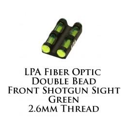 LPA Fiber Optic Double Bead Shotgun Sight Green 2.6mm MF29G
