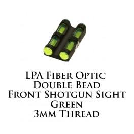 LPA Fiber Optic Double Bead Shotgun Sight Green 3mm MF30G
