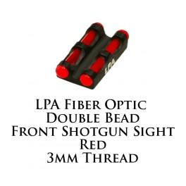 LPA Fiber Optic Double Bead Shotgun Sight Red 3mm MF30R