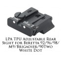 LPA TPU Adjustable Rear Sight for Beretta White Dot TPU92BE-30