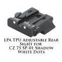 LPA TPU Adjustable Rear Sight for CZ 75 SP-01 White Dot TPU86BZ-30