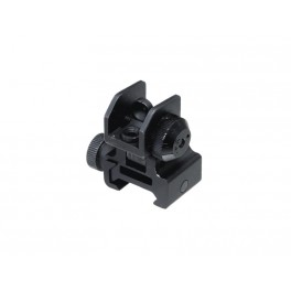 UTG Flip-Up Rear Sight wth Windage and Dual Apertures MNT-951
