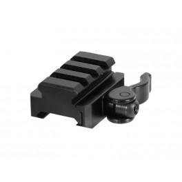 UTG QD Picatinny Riser Mount 3 Slot 0.59 Inch Height MNT-RSQD403