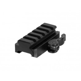 UTG QD Picatinny Riser Mount 5 Slot 0.59 Inch Height MNT-RSQD605