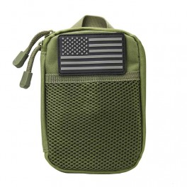 VISM MOLLE Utility Pouch with US Patch Green CVAP3006G