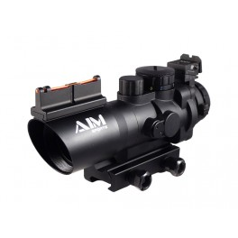 AIM Sports 4x32 Tri-Illuminated Prismatic Rifle Scope MIL-DOT JTSFO0432GN