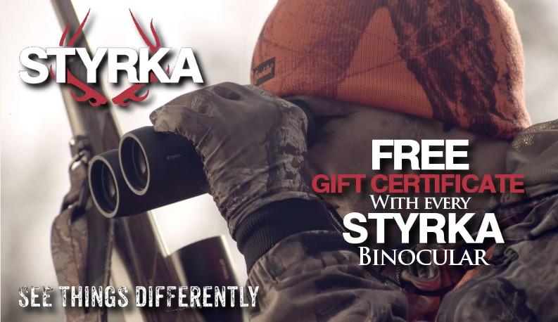 Free Gift Certificate with Styrka Binoculars