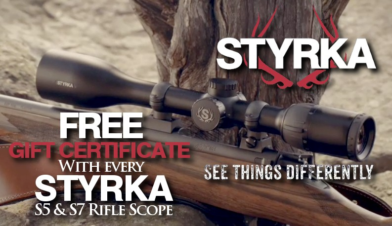 Free Gift Certificate with Styrka Rifle Scopes